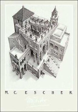 Ascending And Descending poster print by M.C. Escher