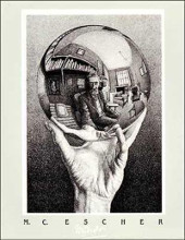 Hand With Globe poster print by M.C. Escher