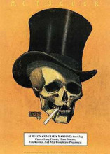 Skull With Cigarette poster print