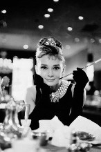 Audrey Hepburn - Breakfast Bw poster print by  Movie Poster