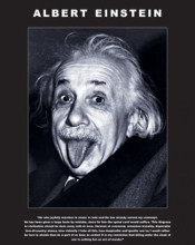 Albert Einstein - Tongue poster print by  Unknown