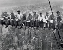 B/W - Lunch On Skyscraper poster print by Charles C. Ebbets