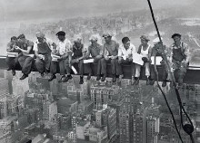 Lunch On Skyscraper poster print by Charles C. Ebbets