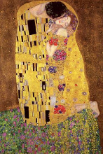 The Kiss poster print by Gustav Klimt
