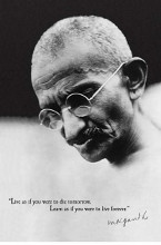 Gandhi Live Forever poster print by  Anonymous