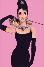 Audrey Heburn - Pink poster print by  Movie Poster