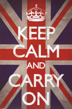 Keep Calm & Carry On - Union Jack poster print by  Unknown