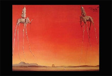 Les Elephants poster print by Salvador Dali