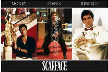 Scarface (Triptych) poster print by  Novelty