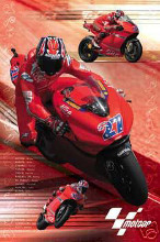 Moto GP (Stoner) poster print by  Novelty