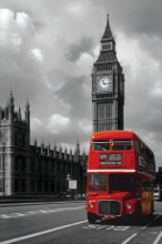 London Red Bus poster print