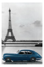 La Voiture Bleue poster print by  Novelty