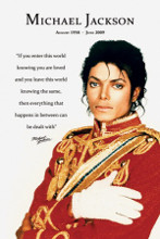 Michael Jackson (Loved) poster print by  Novelty