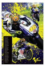 Moto GP - Rossi poster print by  Novelty