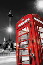 Red Telephone Box poster print by  Novelty