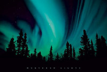 Northern Lights poster print by  Novelty