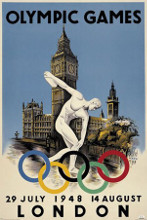 London 1948 Olympics poster print by  Unknown