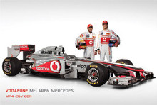 Mclaren (Mp4-26 & Drivers) poster print by  Novelty