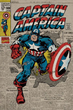 Captain America - Comic poster print by  Novelty