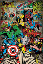 Marvel - Heroes are coming poster print by  Novelty
