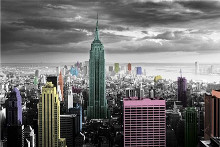 New York - Colour Splash poster print by  Unknown