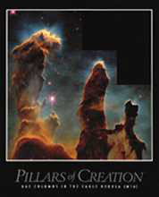 Pillars of Creation poster print by  Hubble Telescope