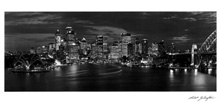 Sydney Lights poster print by Robert Billington