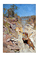 Fire' On poster print by Arthur Streeton