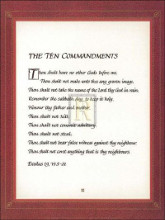 Ten Commandments poster print by  Unknown