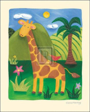 Gerry the Giraffe poster print by S Harding