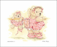 Ballerina Bears I poster print by S Bengry