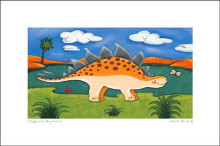 Steggy the Stegosaurus poster print by S Harding