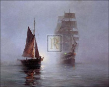 Night Mists poster print by Montague Dawson