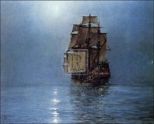 Crescent Moon poster print by Montague Dawson