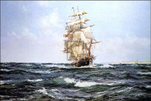 Up Channel the 'Lahloo' poster print by Montague Dawson