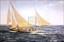 Greatest Race poster print by Montague Dawson