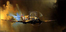 Spitfire poster print by Barrie Clark