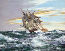 Dawn Chase poster print by Montague Dawson