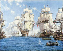Battle of Trafalgar poster print by Montague Dawson