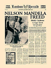 Nelson Mandela Freed poster print by  The Vintage Collection