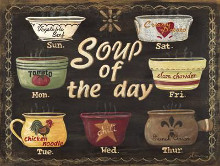 Soup of the Day poster print by Jo Moulton