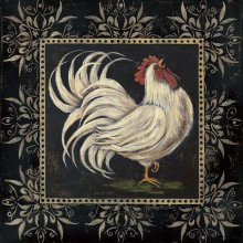 Black And White Rooster I poster print