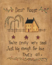 Dear House poster print by Kim Lewis