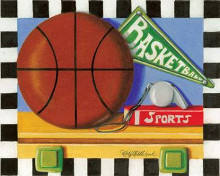 Basketball poster print by Kathy Middlebrook
