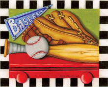 Baseball poster print by Kathy Middlebrook