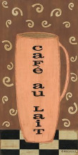 Cafe Au Lait poster print by Sue Allemand