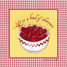 Bowl of Cherries poster print by Stephanie Marrott