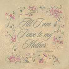 All I Am I Owe To My Mother poster print by Stephanie Marrott