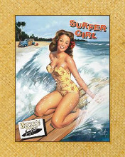 Surfer Girl poster print by Scott Westmoreland