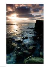 Sunrise over the sea, Cabrillo National Monument, San Diego, California, USA poster print by  Unknown